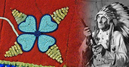 Flowers are often beaded onto clothing to remind us of our connection to plants. ▪ Glenbow Museum. (2005). Nitsitapiisinni Exhibit. Calgary, Alberta: Blackfoot Gallery Committee. (Photo courtesy of Glenbow Museum Archives NA-1757-13)